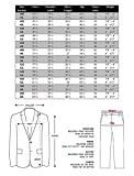 VINCI Mens 2 Button Single Breasted Classic Fit Tuxedo With Black Lapel T-2FF