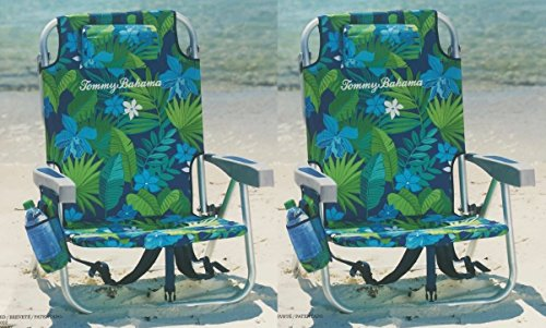 Tommy Bahama 2 2016 Backpack Cooler Beach Chair with Storage Pouch and Towel Bar (Green ()