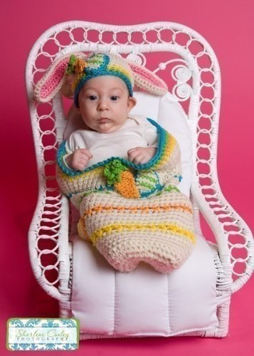 Easter Cocoon and Bunny Beanie Set Crochet Pattern PDF 187