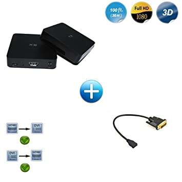 Measy W2H Wireless Video Transmisor y Receptor HDMI para Streaming ...