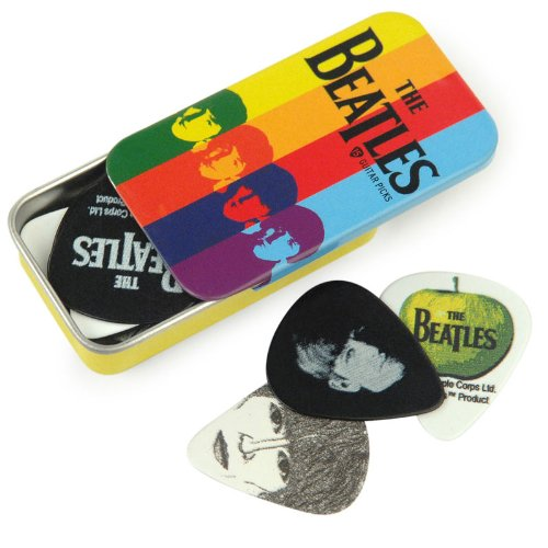Planet Waves Beatles Signature Guitar Pick Tins, Stripes, 15 Picks