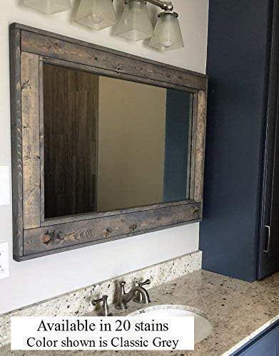 Amazon Com Herringbone Reclaimed Wood Ex Large Framed