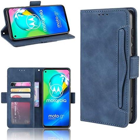 Premium Flip Wallet Tasche mit Kartensteckpl/ätzen PU//TPU Lederh/ülle Handyh/ülle Schutzh/ülle Blau TANYO Leder Folio H/ülle f/ür Motorola G8 Power Lite