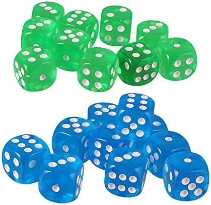 sharprepublic 20pcs D6 Cubos De Dados para D&D Party Bar Poker Juegos De Dados De Mentirosos: Amazon.es: Juguetes y juegos