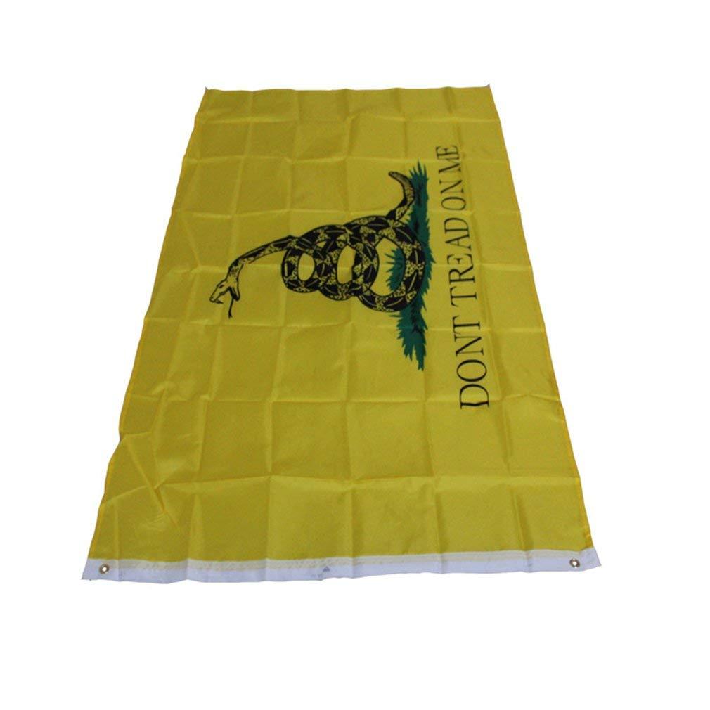 Yogasada 90X150CM Dont Tread ON ME Culpepper Rattlesnake Tea Party Flag Home Decoration Yellow