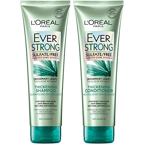 L'Oreal Paris EverStrong Thickening Sulfate Free Shampoo and Conditioner Kit, Thickens + Strengthens, For Thin, Fragile…