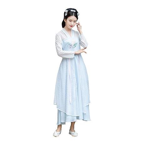 YCWY Vestido Chino Antiguo para Mujer, Traje de Cosplay de ...
