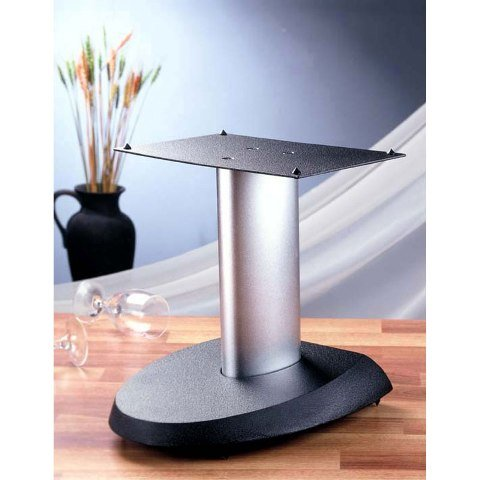 VTI Manufacturing VSPCSB Black Base Silver Aluminum Pole Center Speaker Stand