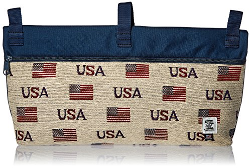 Handi Pockets 2c7us Storage Accessory Walker, Tapestry, USA with Zipper and Flap