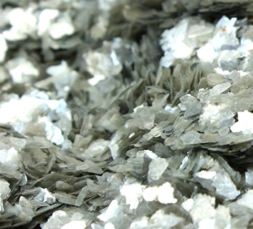 Meyer Imports Natural Mica Flakes - Silver Med - 4 oz - #311