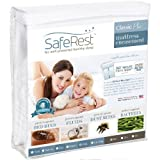 Twin Size SafeRest Classic Waterproof Lab Certified Bed Bug Proof Zippered Mattress Encasement (Fits 6 - 9 in. H) - Designed For Bed Bug, Dust Mite and Fluid Protection