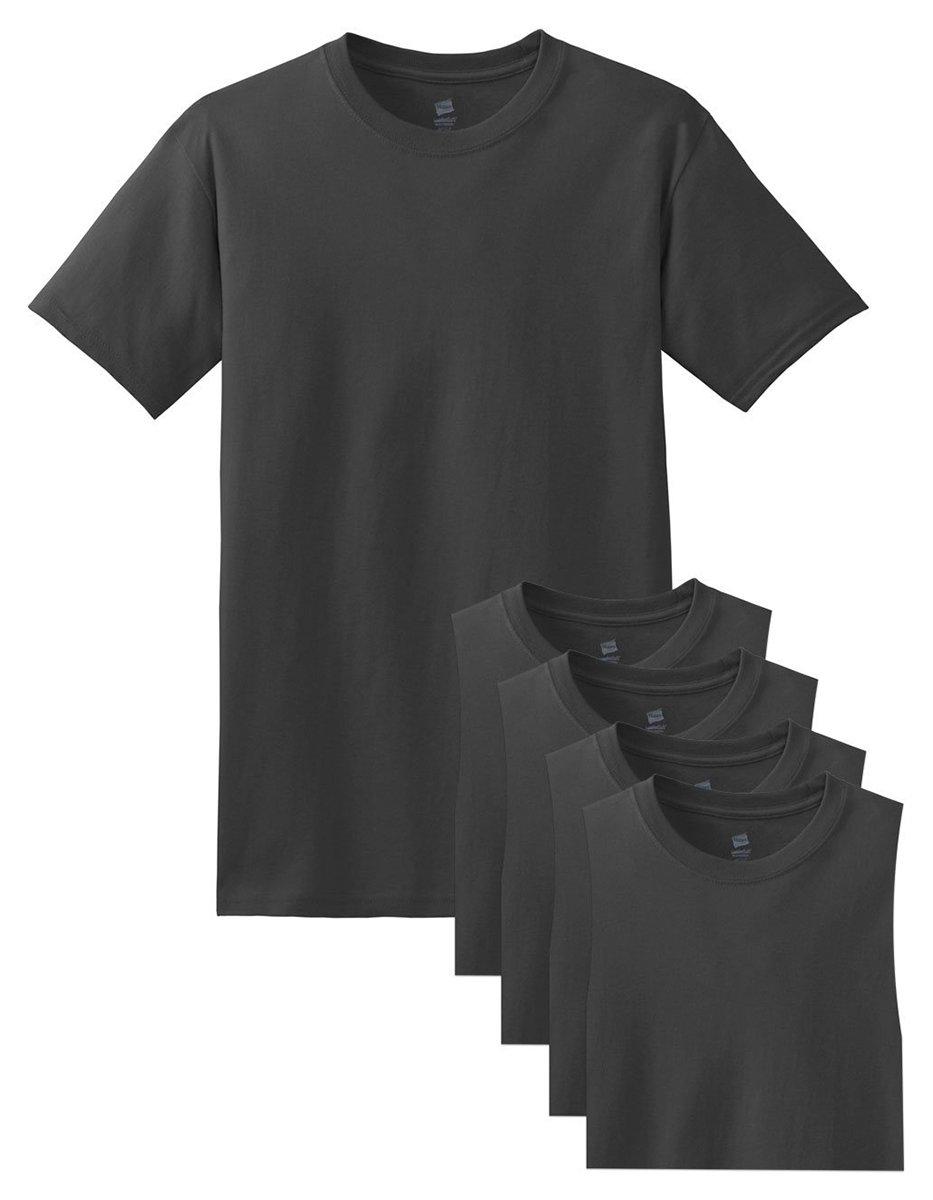 Hanes メンズ Tシャツ ラベルなし 柔らかくて快適 丸首(5枚入り) B015NJPQOC Small|Smoke Gray Smoke Gray Small