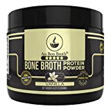 Genuine Grass Fed Organic Bone Broth Protein Powder Collagen 4oz. Vanilla Flavor 7 Servings, Mixes Instantly, Gluten Free, Pasture Raised, 100% Sourced, Made in USA, NOT from Concentrate (Sample Size)
