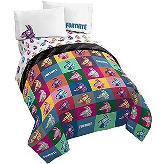 Jay Franco Fortnite Llama Warhol 4 Piece Twin Bed Set - Includes Reversible Comforter & Sheet Set Bedding - Super Soft Fade Resistant Microfiber (Official Fortnite Product)