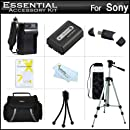 Essential Accessories Kit For Sony Cyber-shot DSC-HX200V, DSC-HX100V Digital Camera Includes Extended Replacement (1000 maH) NP-FH50 Battery + AC/DC Travel Charger + Case + 50 Tripod w/Case + More