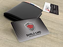 Rfid Blocking Shield Guard Cards for Full Wallet Security, 2 Pack of Rfid Blocking Credit Card Size Cards