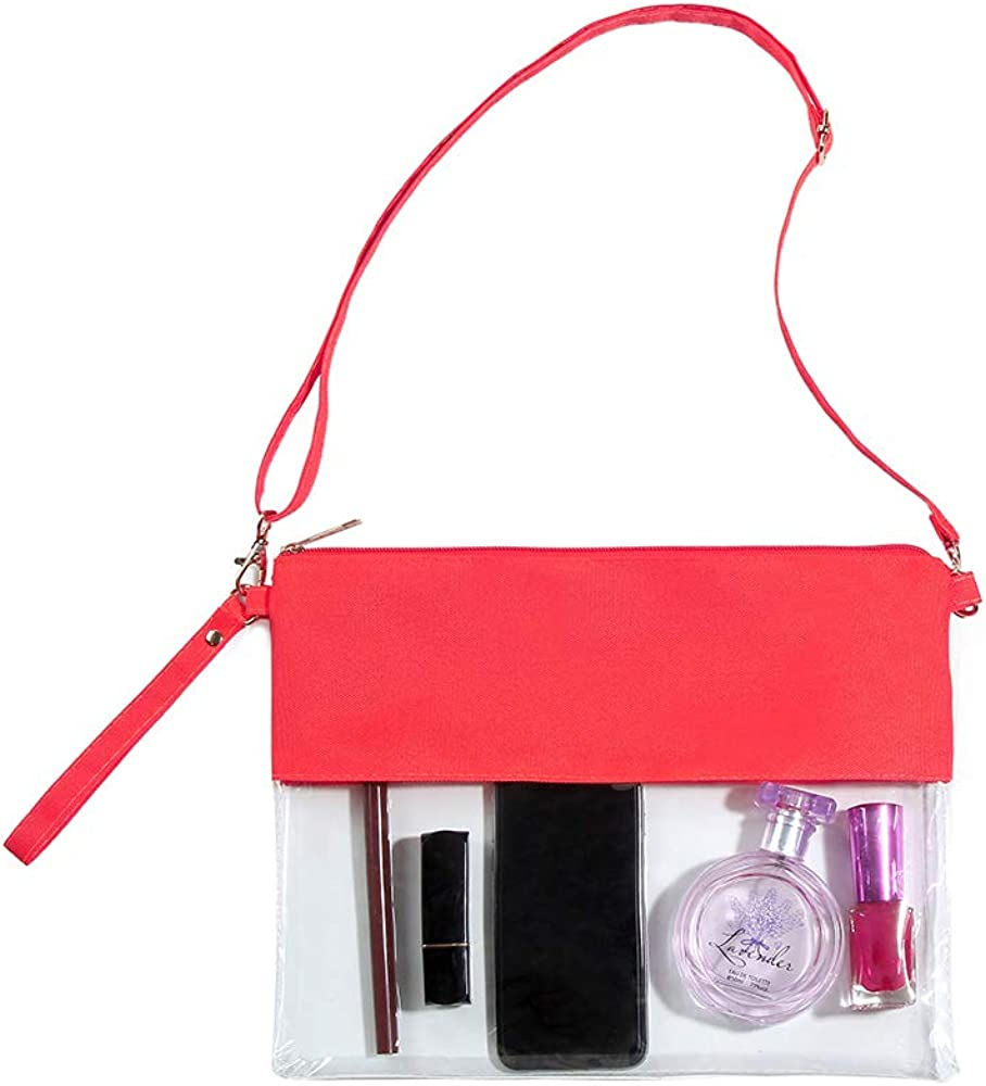 Clear Crossbody Purse Bags,NFL/&PGA Approved Clear Stadium Bag
