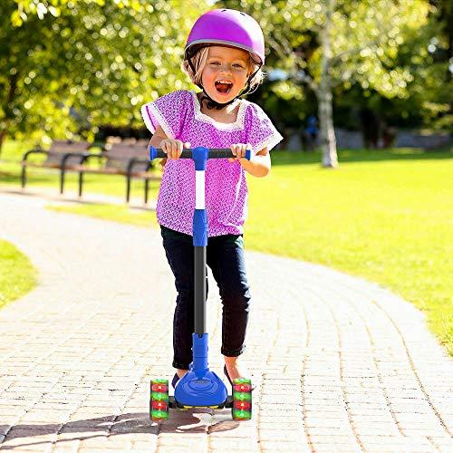 M MEGAWHEELS Monopattino 2 in 1 per Bambini a 3 Ruote, con Altezza Regolabile, Ruote con Illuminazione a LED per Bambini, blu2