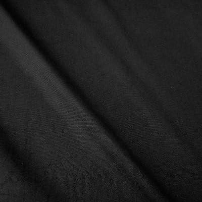 Tela de algodón por metros, panamá, lienzo, color negro, estable: Amazon.es: Hogar