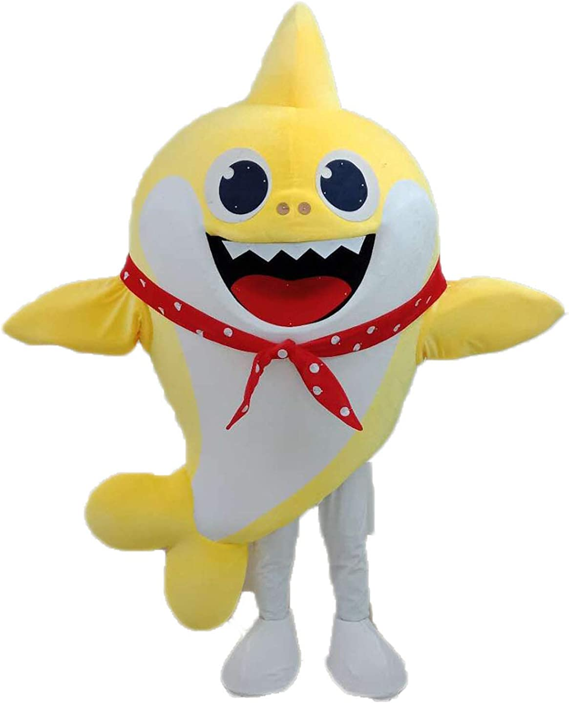 Funny Adult Wear Baby Shark Mascot Costume for Kids Birthday Party Cartoon Character Mascots