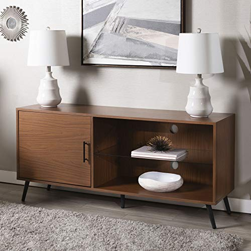 (WE Furniture W52NORGSPC Mid-Century TV Stand 52