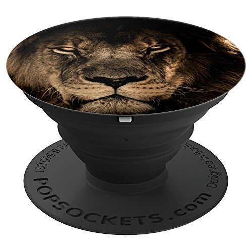 Lion Head Pedestal - African Lion Head - PopSockets Grip and Stand for Phones and Tablets