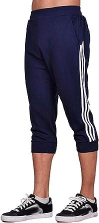 Anikigu Hombre Pantalones Cortos Jogging Bolsillos Deportivo ...