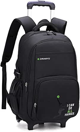 MITOWERMI Kids' Luggage Rolling Backpack for Boys Wheeled Bag Trolley School Bags Carry On