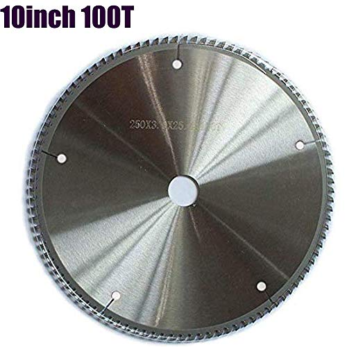 OSCARBIDE Circular Carbide Saw Blade 10 Inch 100-Tooth TCT Cutter with 1 Inch Arbor,OSCARBIDE Fine Finishing Cutting Blades For Aluminum & Non ferrous Metals 1 Pcs