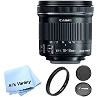 Canon EF-S 10-18mm f/4.5-5.6 IS STM Premium Lens Bundle- International Model