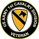 2 US ARMY 1st CAVALRY INSIGNIA DECAL Sticker Bogo For Car Bumper Window Jeep