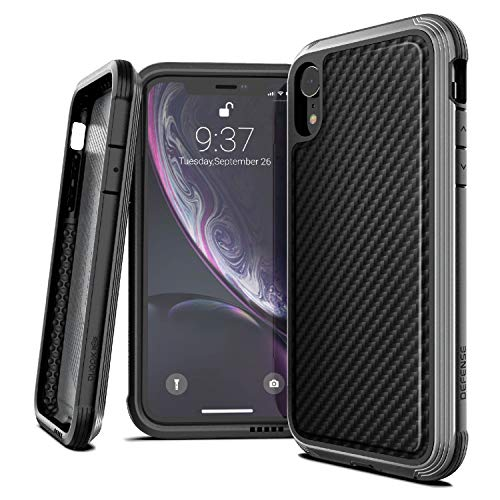 X-Doria Defense Lux Series, iPhone XR Case - Military Grade Drop Tested, Anodized Aluminum, TPU, and Polycarbonate Protective Case for Apple iPhone 6 XR, 6.1