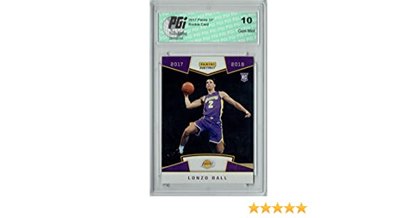 1/3289 Made Rookie Card PGI 10 Lonzo Ball 2017 Panini #5 First Look Verzamelkaarten, ruilkaarten Basketbal