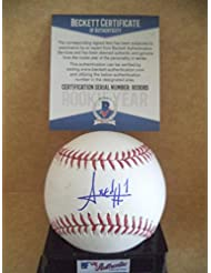 AMED ROSARIO NEW YORK METS ROOKIE YEAR SIGNED M.L. BASEBALL BECKETT R03085