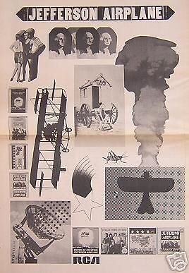 Jefferson Airplane Rare 1968 Album Promo Poster Newspaper (1968 Promo Poster)