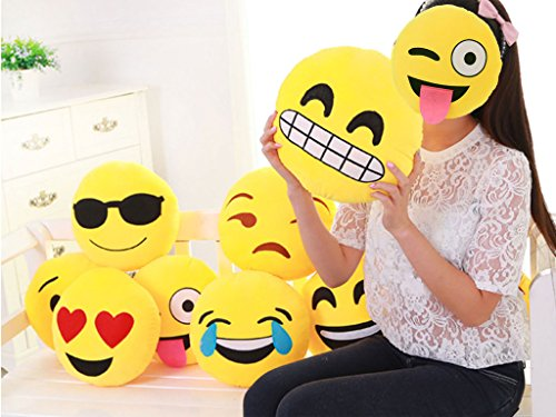 Lelinta Smiley Emoticon Cushion Stuffed