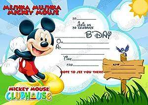 8 x de DISNEY Mickey Mouse tarjetas de invitaciones