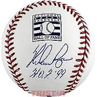 $169 » Nolan Ryan Signed Autographed Hall of Fame Logo Baseball Inscribed HOF 99 TRISTAR