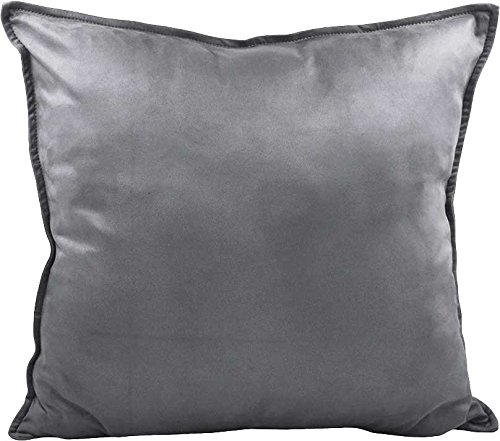 ZEALAX Set of 2 Decorative Throw Pillow Covers Comfortable Cushion Covers Pillowcases for Sofa Couch Home Decor, 18 x 18 inches, Gray
