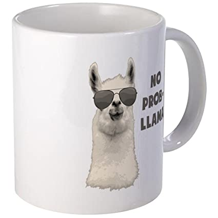 b0306b391a9 Image Unavailable. Image not available for. Color: CafePress - No Problem  Llama Mugs - Unique Coffee Mug ...
