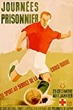 Buyenlarge 0-587-28495-1-C2030 ''Journees Prisonnier - Red Cross Soccer'' Gallery Wrapped Canvas Print, 20'' x 30''