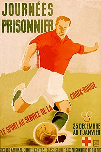 Buyenlarge Journees Prisonnier - Red Cross Soccer - Gallery Wrapped 44''X66'' canvas Print., 44'' X 66'''' by Buyenlarge