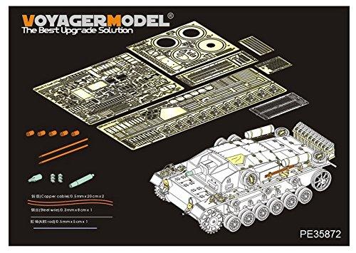 ボイジャーモデル 1/35 第二次世界大戦 ドイツ軍 3号突撃砲C/D型 アフリカ仕様 エッチング基本セット DML6851用 プラモデル用パーツ PE35872の商品画像