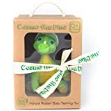 Cosmo the Dino Baby Natural Teether Toy by Pijio with Free Downloadable Coloring Book- Best Amazon Baby Registry Gift - Developmental Teething Chew Toy