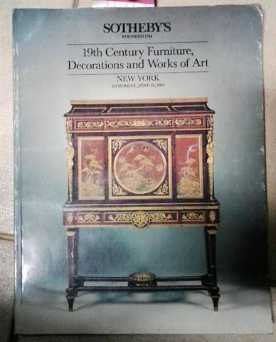 19th Century Furniture, Paintings, Works of Art and Rugs (Tuesday, October 1, 1985) (Christies 19th Century Furniture)