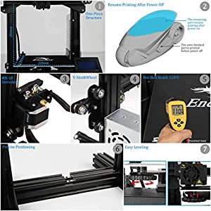 Creality Ender 3 3D Printer Aluminum DIY with Resume Printing 220x220x250mm for Home and School Use from Creality