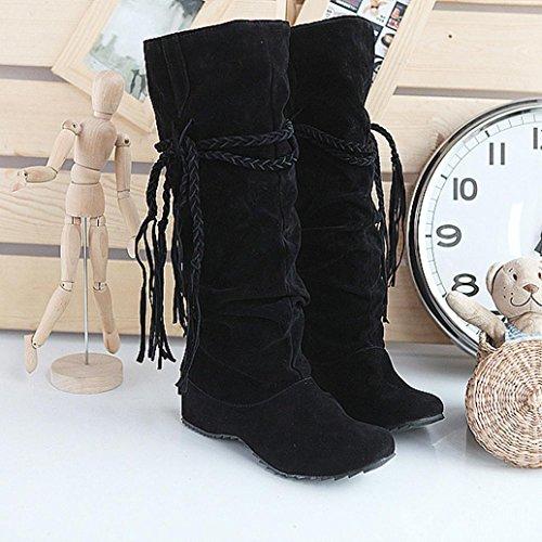 Women Piattaforme Alzano Moto 41 Cosce Le Somesun Stivali Donne Tessali Black Boots Alti Scarpe Shoes 7CFY7wdq