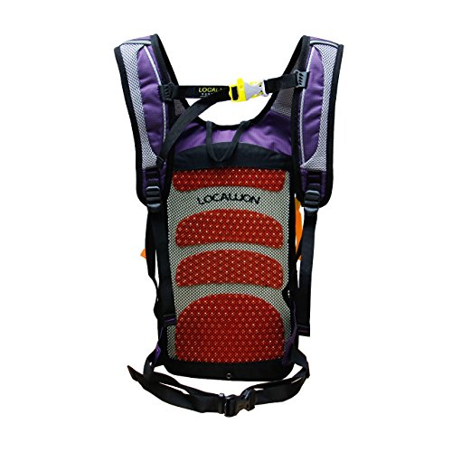 Outdoor Sports Cycling Hiking Camping Travel Daypack, Water resistant, 18L(purple) by YOGOGO (Image #4)