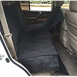 "Pet Dog Cat Car Seat Universal Hammock Cover Fit Car Van Truck SUV 60""L Black"