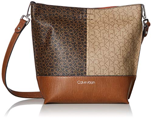 Calvin Klein Signature Novelty Key Item Bucket Crossbody, Twin Print ()